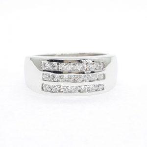 Eternity cz ring แหวนเพชรสวิส เพชรcz แหวนแถว โรงงานผลิตเครื่องประดับเพชรสังเคราะห์ F175