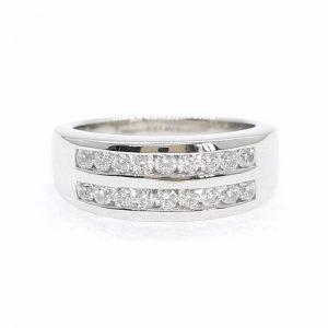Eternity cz ring แหวนเพชรสวิส เพชรcz แหวนแถว โรงงานผลิตเครื่องประดับเพชรสังเคราะห์ F88