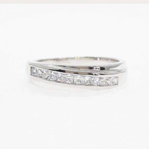 Eternity cz ring แหวนเพชรสวิส เพชรcz แหวนแถว โรงงานผลิตเครื่องประดับเพชรสังเคราะห์ F116