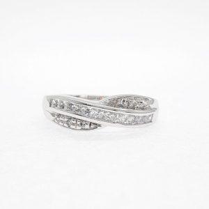 Fancy cz ring แหวนเพชรสวิส เพชรcz แหวนแฟนซี โรงงานผลิตเครื่องประดับเพชรสังเคราะห์ F127
