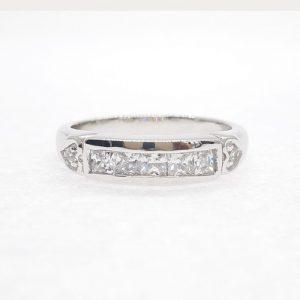 Eternity cz ring แหวนเพชรสวิส เพชรcz แหวนแถว โรงงานผลิตเครื่องประดับเพชรสังเคราะห์ F138