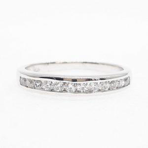 Eternity cz ring แหวนเพชรสวิส เพชรcz แหวนแถว โรงงานผลิตเครื่องประดับเพชรสังเคราะห์ F161