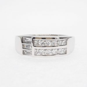 Eternity cz ring แหวนเพชรสวิส เพชรcz แหวนแถว โรงงานผลิตเครื่องประดับเพชรสังเคราะห์ F174