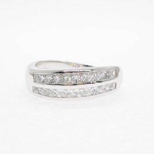 Eternity cz ring แหวนเพชรสวิส เพชรcz แหวนแถว โรงงานผลิตเครื่องประดับเพชรสังเคราะห์ F176