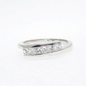 Eternity cz ring แหวนเพชรสวิส เพชรcz แหวนแถว โรงงานผลิตเครื่องประดับเพชรสังเคราะห์ F74