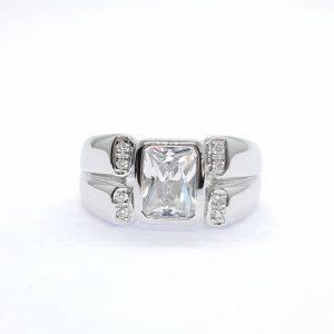 Men ring cz ring แหวนเพชรสวิส เพชรcz แหวนชาย โรงงานผลิตเครื่องประดับเพชรสังเคราะห์ M203