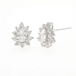 Earrings cz ring ต่างหูเพชรสวิส เพชรcz ต่างหู โรงงานผลิตเครื่องประดับเพชรสังเคราะห์ E614