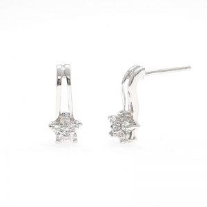 Earrings cz ring ต่างหูเพชรสวิส เพชรcz ต่างหู โรงงานผลิตเครื่องประดับเพชรสังเคราะห์ E647